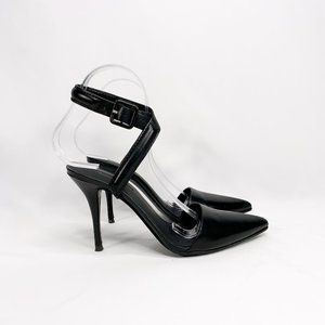 ALEXANDER WANG Black Pointed Leather Sandals